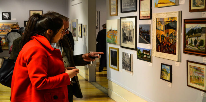 - in Gallery 2 & 4 the Oldham Open