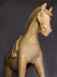 Tang Dynasty Horse, a ceramic funerary horse from China